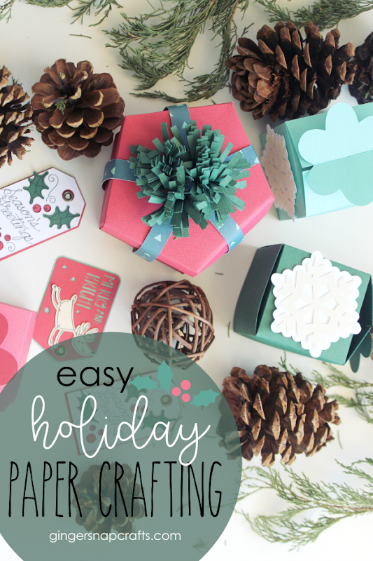 Easy Holiday Paper Crafting with Cricut #cricut #cricutmade #cricutmaker