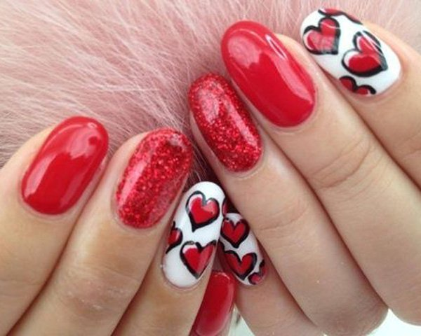 Top 100 Lovely Ideas To Have Valentine S Day Nails Art Designs
