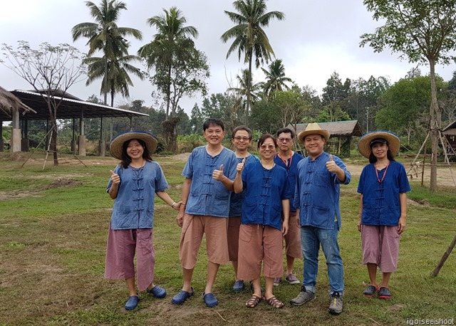 Group photo with Mr Pop (second from right), owner of the Lanna Kingdom Elephant Sanctuary.