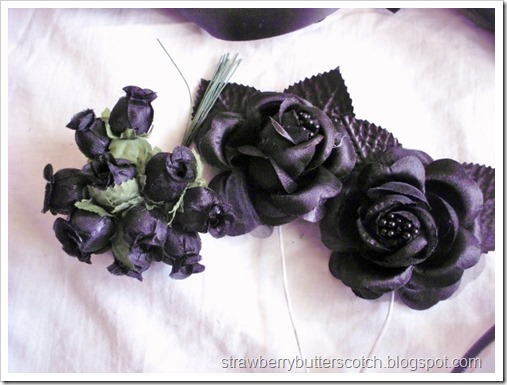 Craft store shopping haul, or shopping for Halloween.  Black flowers for accessories