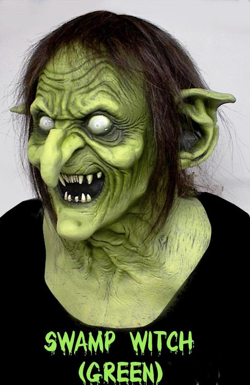Swamp Witch Green Mask, Green Witches