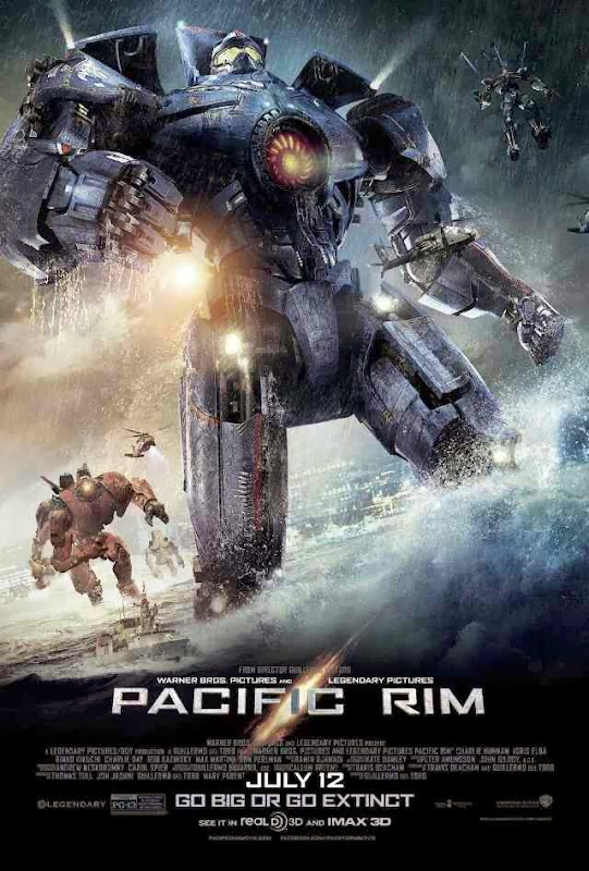 Poster Of Pacific Rim (2013) Full Movie Hindi Dubbed Free Download Watch Online At Alldownloads4u.Com