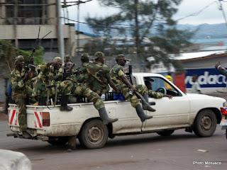 Les rebelles du M23 lors de leur entrée dans la ville de Goma en novembre 2012.
