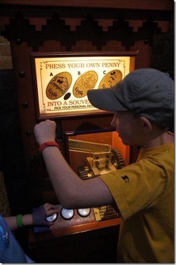pressed pennies at Disney World