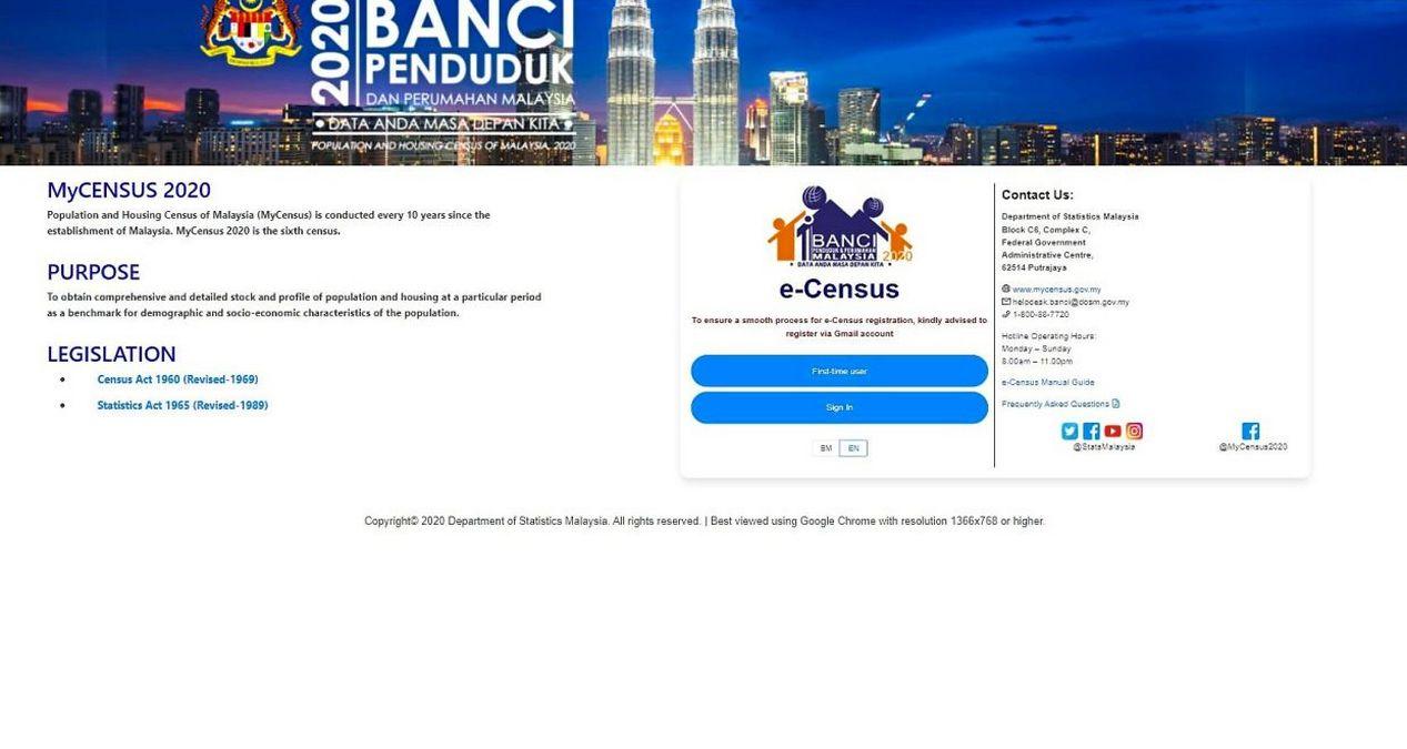 COVID-19: Malaysia Census 2020 rescheduled
