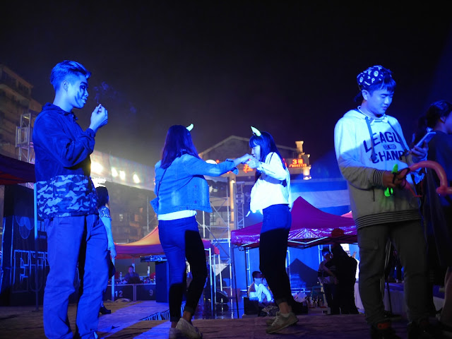 Dancing at the Halloween 2 party in Shaoguan