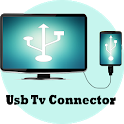 USB Connector phone to tv icon