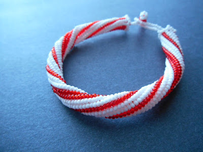 Holiday Candy Cane Bangle Tutorial