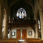 Collégiale Saint-Martin : grandes orgues (Sté Gonzalez de Rambervillers, 1981) et verrière de Bouvines (19e s.)
