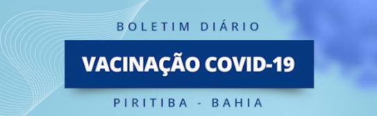 Piritiba: Veja o boletim diário da vacinação contra o covid-19 no município