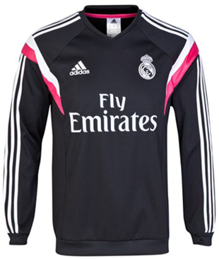 Sweater Pre Match Real Madrid Black 2014-2015