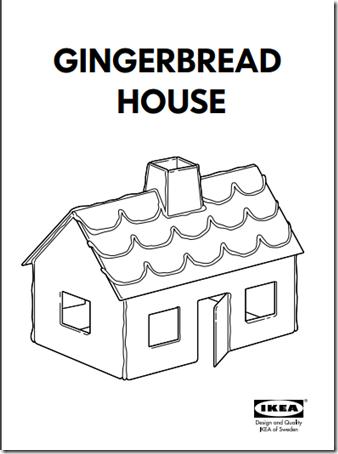 Casa de jengible para hacer dulce de navidad
