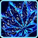 Neon Blue Weed Keyboard Theme icon
