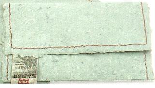 papel reciclado con tela de vaqueros