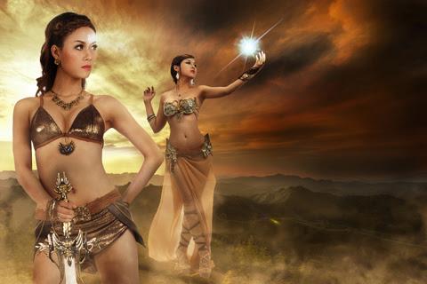 Song nữ khoe dáng với cosplay Truyền Thuyết Bóng Đêm 2