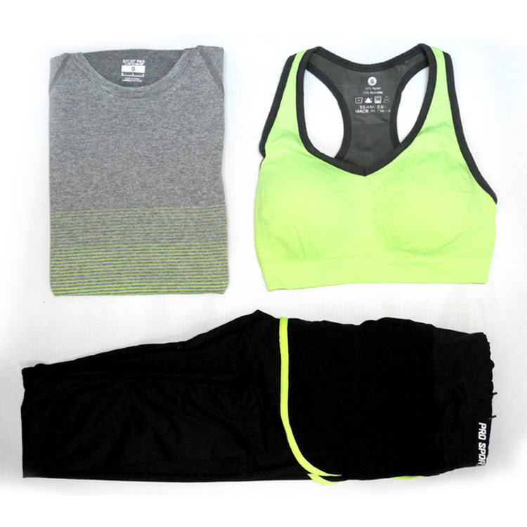 Women sportswear (3 piece set) fitness, gym, yoga running ladies sports wear suit