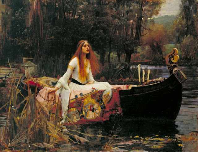 John William Waterhouse 1888%252520Waterhouse%252520LadyShalott%252520detail01072011%252520190300