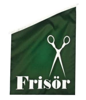 Frisör Fasadflagga 60x40cm tyg