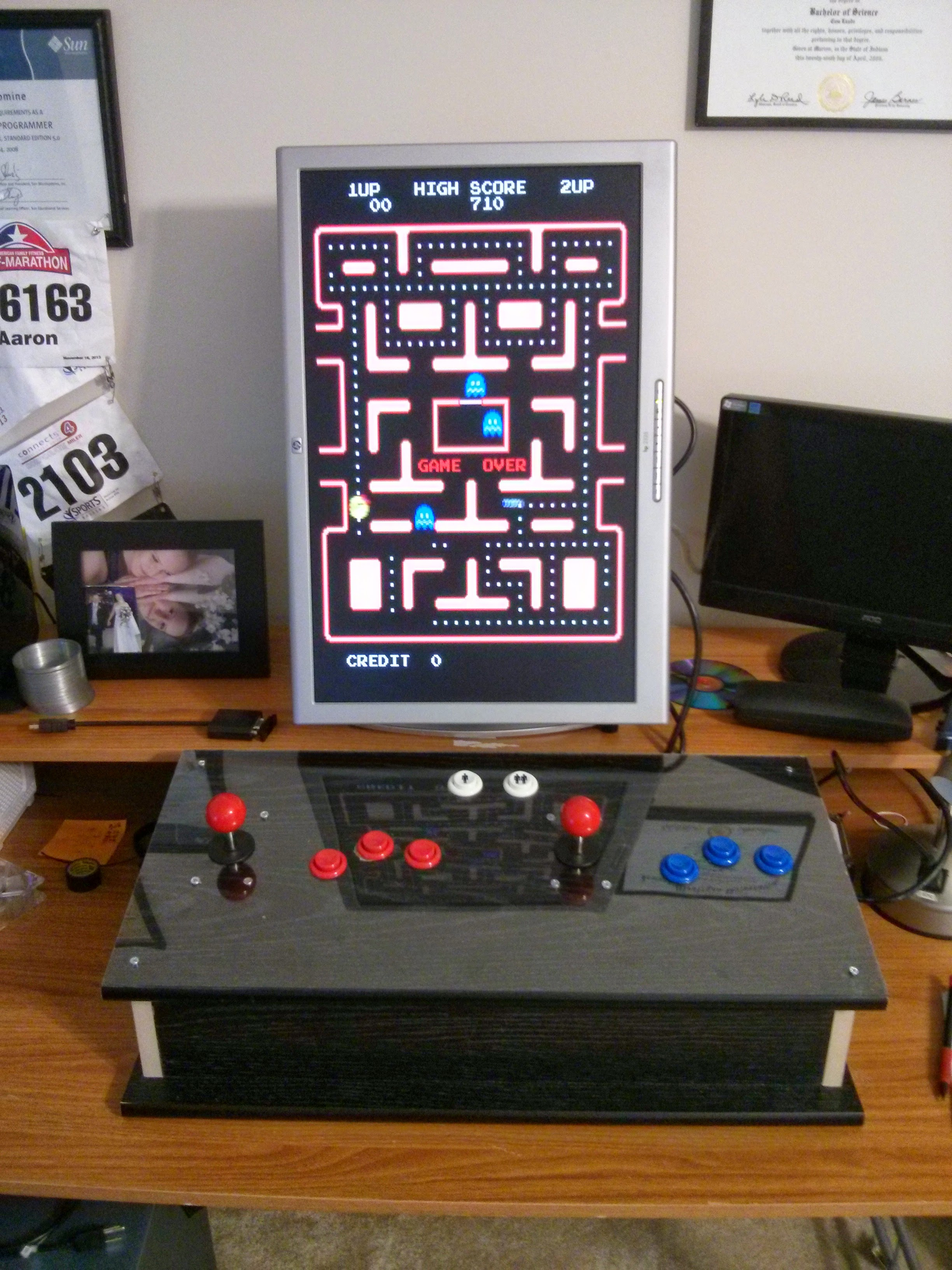 Homemade Arcade Console Using A 60 In 1 Jamma And Sticks Buttons Icade Wiring Harness
