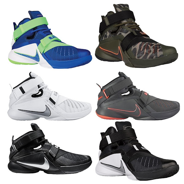 The Nike LeBron Soldier 9 Launches Today in 6 Colorways