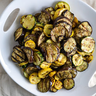 Grilled Eggplant and Zucchini with Za'atar Vinagrette.
