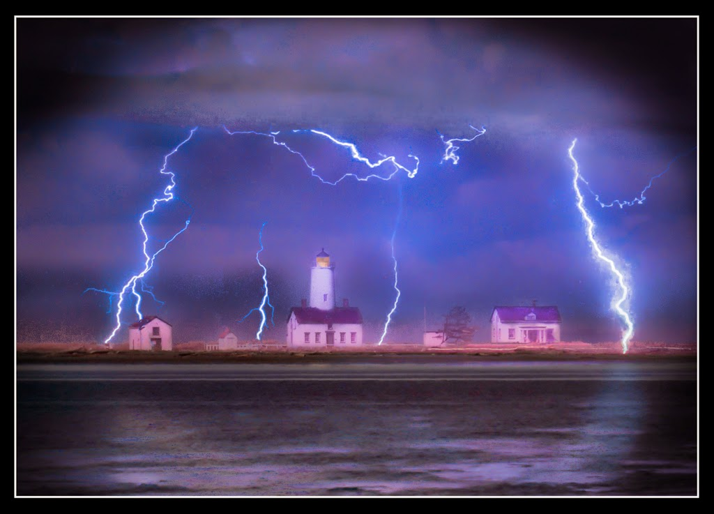 """Lightning at the Dungeness"" by Tim Snyder -- 1st Place General A"