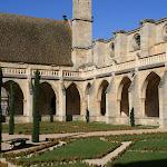 Abbaye de Royaumont : jardin du cloître