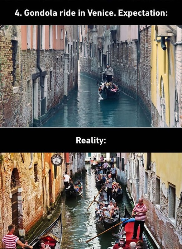 Gondola Ride in Venice Expectations vs. Reality
