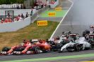 Start of the 2014 Spanish F1 Grand Prix into first corner
