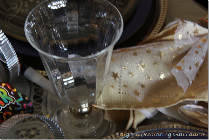 Plastic Stemware on Children's New Year's Table