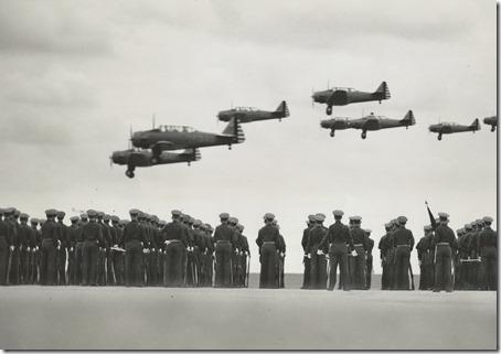 Flying Cadets Witness Aerial Demonstration Randolph Field TX