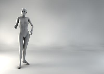 femme 3D pose naturelle BH 02