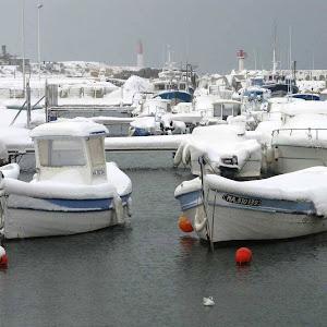 Le port de Carro le 7 janvier 2009