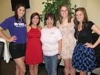 Lindsey Rubin, Lauren Vasquez, event chairwoman Amanda Vasquez, Ariel Davis and Kerry Quinn