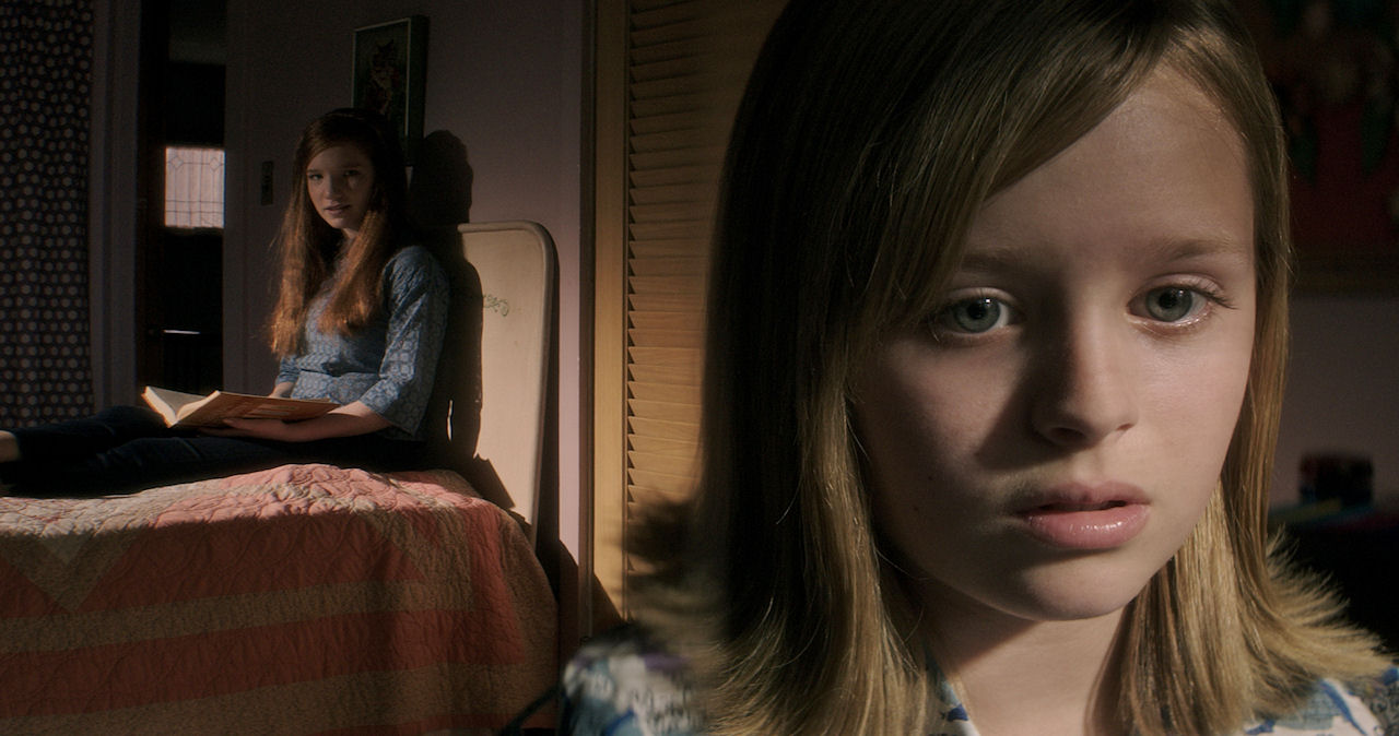 (L to R) Annalise Basso as Lina and Lulu Wilson as Doris in OUIJA: ORIGIN OF EVIL. (Photo courtesy of Universal Pictures).