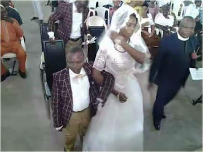 Photo:The Wedding Photos Of Short Man Who Married His Tall Lover That Has People Talking
