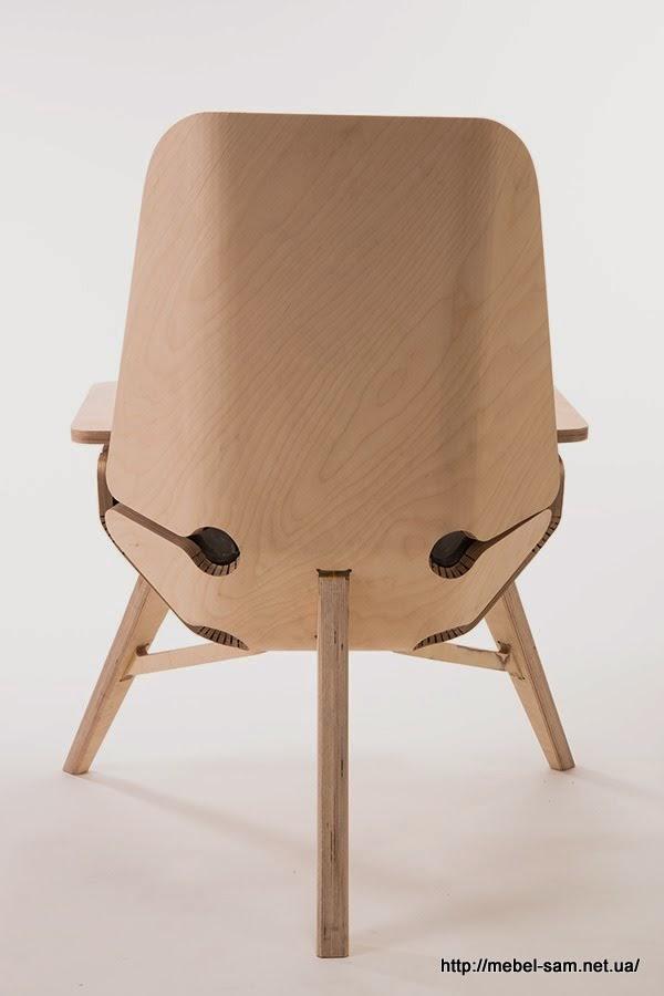 Фото фанерного кресла сзади