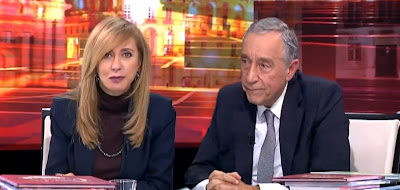 Marcelo Rebelo de Sousa emociona-se ao desejar Bom Natal a Judite Sousa