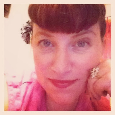 Bridget Eileen in her Bettie Bangs - tips on how to trim your own Bettie Bangs