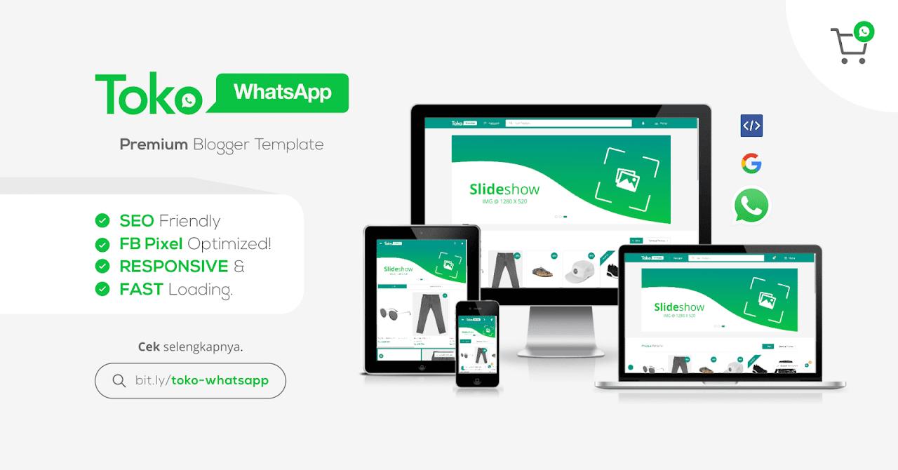 Toko WhatsApp - Premium Blogger Template