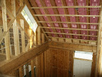 Cathedral Ceiling Continuous Venting with Rafter Chutes prior to Insulation Installation