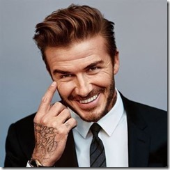 David Beckham Quiff With Short Sides And Beard
