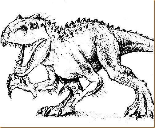 Pinta Y Colorea Indominus Rex Jurassic World