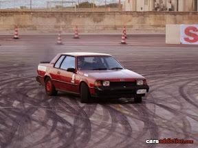 Kane Pisani in his  diesel Toyota Celica