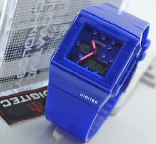jam tangan Digitec original 3017T blue rubber