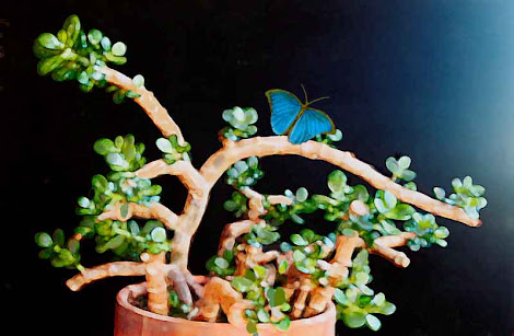 """The """"Jade with Butterfly"""" piece from the """"2000"""" collection"""