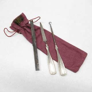 Sterling Handled Nail File & Button Hook