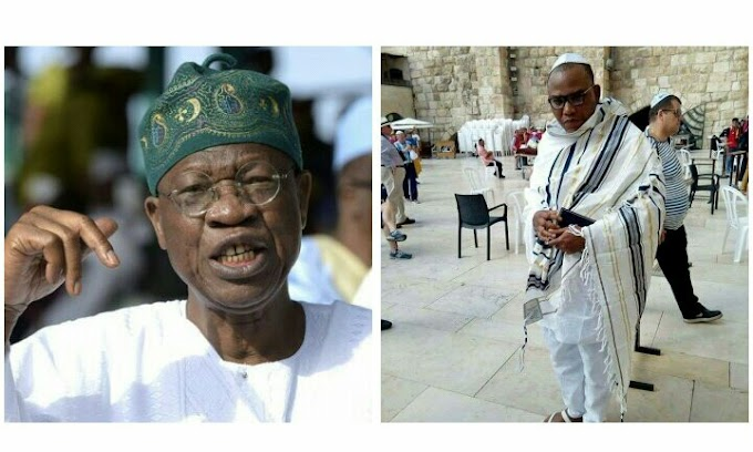 Isreali government replies Lai Mohammed