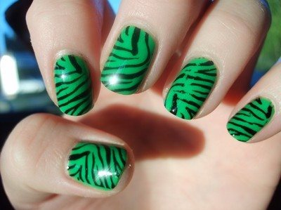 cute green nails for women 2015  styles 7