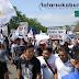 Massa Aksi Demo di Sukabumi Tidak Puas Hasil Audiensi, Massa Bubarkan Diri Ancam Demo Susulan